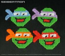 Teenage Mutant Ninja Turtles HOMEMADE PINS vintage TMNT Raph + Leo + Mike + Don