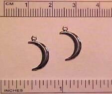 CRESCENT MOONS with Ring for 1:9 Traditional Scale Model Horse Costumes - SILVER
