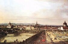 Dream-art Oil painting Great cityscape View of Vienna from the Belvedere canvas