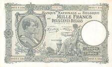A   SAISIR    BILLET DE   1000  FRANCS   1943    BELGIQUE    RARE