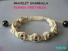 BRACELET SHAMBALLA  /  BRACELET TETE DE MORT  / SHAMBALLA BRACELET BRESILIEN
