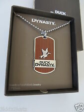 New in Box~ Duck Dynasty Stainless Steel & Wood Inlay Tag Pendant ~FREE SHIPPING