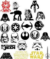1PC Star Wars Logo Vinyl Decal Sticker Car Window Wall Bumper Decor Darth Vader