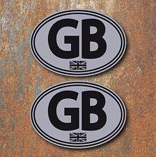 GB Union Jack Laminated Stickers 130x90mm Car Van Camper Beetle Scooter Vespa