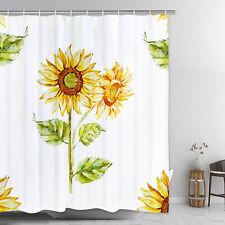 Sunflower Waterproof Shower Curtain Printing Art Curtain Dormitory Home Bathroom