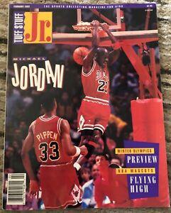 1992 Chicago Bulls Michael Jordan Tuff Stuff Jr w Uncut Animal Cards Howe Poster