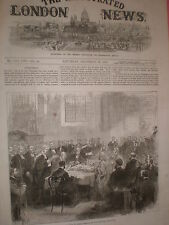 Confirmation de l'évêque temple à nœud église cheapside london 1869 old print