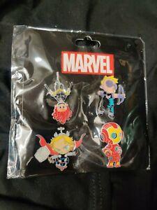 SDCC 2015 Marvel Skottie Young Avengers Pin Set Black Widow Thor Hawkeye IronMan