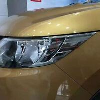 Chrome Front Headlight Lamp Hood Cover Trim For Nissan Qashqai 2014 2015 2016