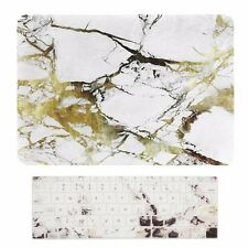 2016 Macbook Pro 13 NO TOUCH BAR A1708 MARBLE WHITE/GOLD Hard Case+Keyboard Skin