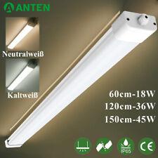 LED Feuchtraumleuchte Feuchtraumlampe Wannenleuchte Röhre Keller 60/120/150cm