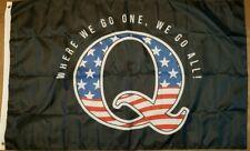 QAnon WWG1WGA 3x5 Feet Flag Banner Q Anon American Trump Man Cave