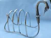 Stunning 'SWAN' English Silver Toast Correspondence Rack Exquisite - study pic