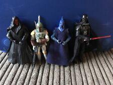 STAR Wars Dark Side Figura Bundle Darth Vader Maul Boba Fett GUARDIA DEL SENATO