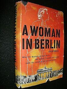 A WOMAN IN BERLIN. ANONYMOUS. 1955 1st EDITION HARDBACK in DUST JACKET.