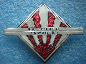 altes Ski Sport Abzeichen - Skilehrer Anwärter mi Verleihungs Nr. 629