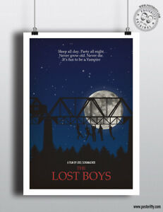 THE LOST BOYS Minimalist Movie Poster Minimal Film Print Posteritty Art Vampire