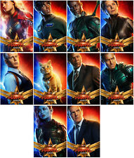 10pc Avengers 4 Captain Mar 2019  Mirror Surface Promo Card Sticker usi