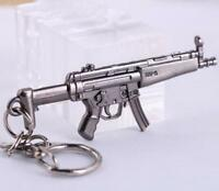 Cross Fire CF Submachine Gun KeyRing MP5 Cool Miniature Weapon Model Keychain