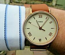 Timex TW2R28800 Rose G/P Unisex Quartz Watch -Roman Numerals/WR30M -Brand New