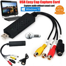 Capture Card Video USB 2.0 VHS to DVD Adapter Converter EasyCap PC PS3 XBOX AU