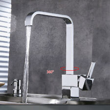 Modern Square Victorian Chrome Kitchen Sink / Bathroom Basin Mixer Tap - (L11)