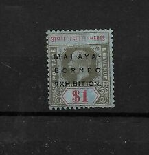 Straits Settlements, 1922 KGV Malaya-Borneo Exhibition $1 with short i (6903)