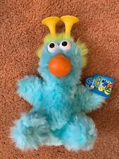 "NOS 8"" Plush Sesame Street Blue Honker Doll Toy w Tags from Applause Nose Works"