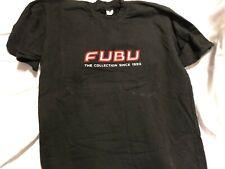 Vintage 90's FUBU Big Logo Short Sleeve Shirt Black Size XL The Collection