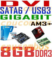 COMBO AMD FX-8350 EIGHT CORE CPU+8GB DDR3 RAM+MSI SATA6 USB3 DVI AM3+Motherboard