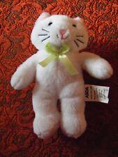 "Asda white cat soft toy 8""  approx VGC (B45)"