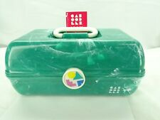 Caboodles On the Go Girl Classic Cosmetic Case With Mirror Green Marble / T3