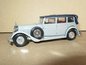 993P 1990'S Matchbox Y40 Chine 1931 Mercedes-Benz Type 770 Gris Capote Bleu