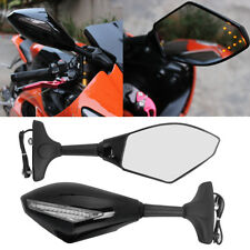 Motorcycle LED Turn Signal Mirrors For Yamaha YZF R6 1999-2009 R6S 2006-2009 US