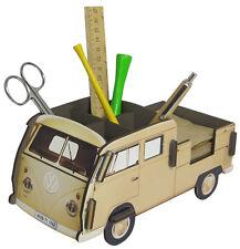 Stiftebecher Stiftebox Zettelbox VW-Bus Bulli T1 Doppelkabine, Steckbausatz