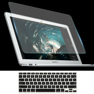 2in1 Tempered Glass Screen Protective+Keyboard Skin for MacBook Air Pro 11 13 15