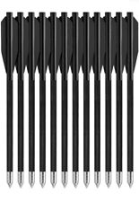 "12Pcs 6.3"" Mini Arrow Bolts Cross bow Black Aluminum Archery 50lb 80 lb Archery"