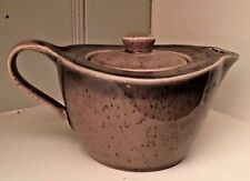 "Deco 7.5"" Stoneware B Smith Style Gray Lid With Spout Individual Bake Ware Dish"
