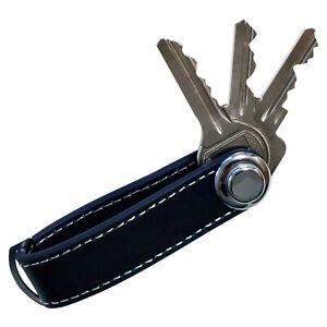 Schlüsselhalter Leder blau Smart Key Organizer Schlüssel Etui Anhänger Keychain
