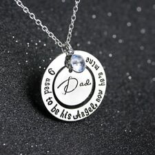 baby I used to be his angel,now he's mine Dad Memorial Necklace
