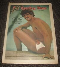 1972 Mark Spitz - The Sporting News Magazine - Olympic Games - No Label