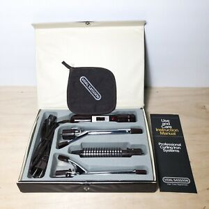 Vidal Sassoon Curling Brush Iron Travel Set/Case Model VS 125 Vintage