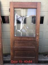 Antique Oversized Entry Door- Oak