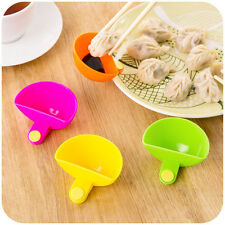 1pcs Home Cutlery Dip Clip Bowl Flavored Dish For Spice Tomato Sauce Nutshell QA