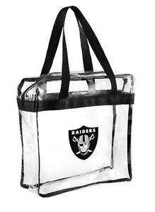 NFL Oakland  Raiders Clear Zipper Tote Bag 2019 Stadium Approved