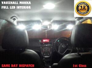 VAUXHALL MOKKA INTERIOR LED LIGHT BULBS KIT 10x LED REPLACEMENT 6000k Warranty