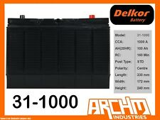 DELKOR BATTERY - COMMERCIAL 31-1000 CCA 1000 A 100 AH SAE CENT MAINTENANCE FREE