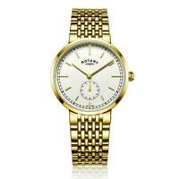 Rotary men's Gold plated Canterbury watch GB05062/02 RRP £129.00 Now £64.50