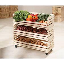 Cageots cagettes rangements cuisine modulable empilable sur roulette bois massif