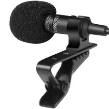 3.5mm Jack Stereo Lapel Tied Clip with Mic Condenser Microphone for iPhone iPad